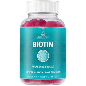 Biotin gummies for hair growth by BeLive
