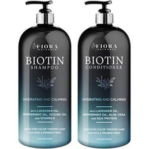 Biotin Shampoo and Conditioner Set by Fiora Naturals