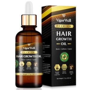 Hair Growth Oil Natural with Caffeine, Biotin and Castor