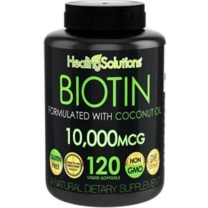 Biotin 10,000mcg with Coconut Oil by Healing Solutions