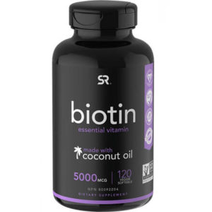Biotin (5,000mcg) with Coconut Oil by Sports Research