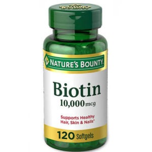 Biotin 10 000 mcg 120 Softgels by Nature's Bounty