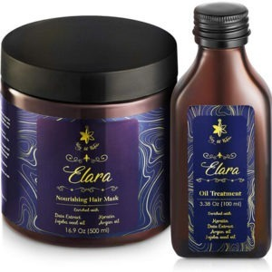 Deep Conditioner Keratin Hair Mask and Oil Set by Way of Nature