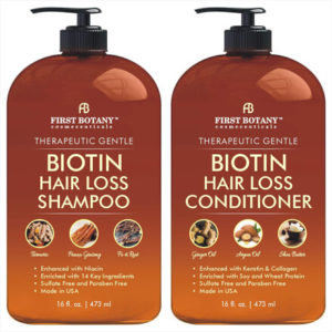 Biotin Hair Growth Shampoo Conditioner Set By First Botany