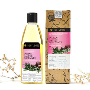 Cold Pressed Castor & Rosemary Hair Oil by Soulflower